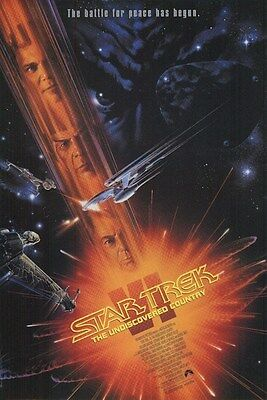 Star Trek VI ~ Undiscovered Country ~ 24x36 One Sheet Movie Poster