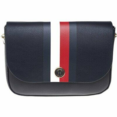 739d06f6de60 New WOMENS TOMMY HILFIGER BLUE CORPORATE POLYURETHANE CROSS BODY BAG BAGS