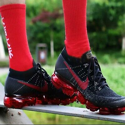 100% Authentic NIKE Air VaporMax Be True Flyknit Men's Breathable Running Shoes