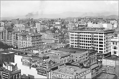 Poster, Many Sizes; Panoramic View Of Downtown Los Angeles Showing Pershing Squa