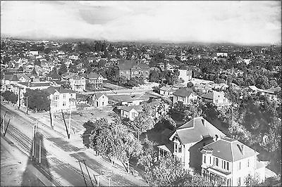 Poster, Many Sizes; Panoramic View Of Downtown Los Angeles Including St. Vincent