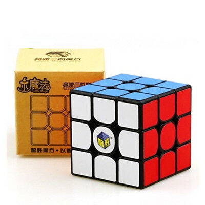 YuXin Little magic 3x3x3 Speed Magic Cube Twist Puzzle Black US SELLER