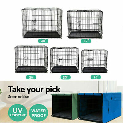 "24"" 30"" 36"" 42"" 48"" Pet Dog Cage Waterproof Cover Collapsible Crate Kennel"