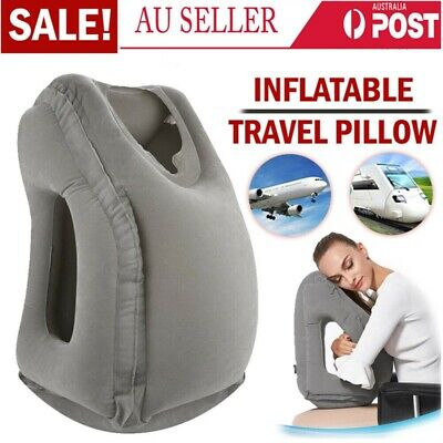 Inflatable  Air Travel Pillow Airplane Neck Support Head Cushion Nap Rest AU