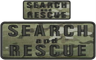 Search and Rescue K9 UNIT embroidery patches 4x10 and 2x5  hook yellow od