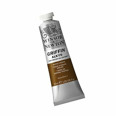 Winsor & Newton Griffin Alkyd Fast Drying Oil Colour Paint, 37ml tube, Burnt ...