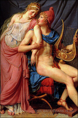 Poster, Many Sizes; Love Of Helen And Paris (Detail) Jacques-Louis David