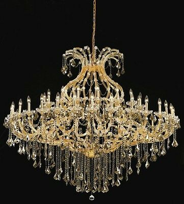 Palace Maria Theresa 49 Light Golden Teak Crystal Chandelier light Gold 72x60