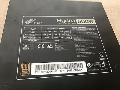 500W FSP Hydro 80 plus Bronze Power Supply Unit PSU