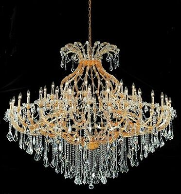 "Palace Maria Theresa  49 light Crystal Chandelier light gold 72""x60"""