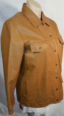 Terry Lewis Classic Luxury Leather Snaps Jacket Women's Size L Fur Lined Zip out