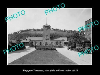OLD 8x6 HISTORIC PHOTO OF KINGSPORT TENNESSEE THE RAILROAD STATION c1930