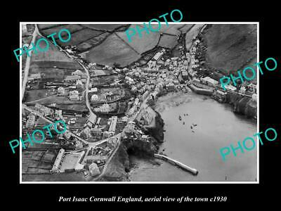OLD 8x6 HISTORIC PHOTO OF PORT ISAAC CORNWALL ENGLAND VIEW OF THE TOWN 1930 3