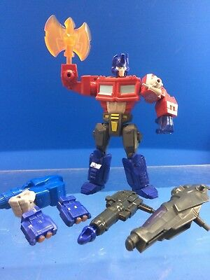 r150 Transformers Optimus Prime Hero Mashers w/ weapons and parts loose figure