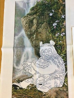 Crewel Panda Asian Stamped On Needle Treasure Citizen Of Heaven Earth  No Thread