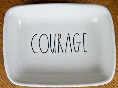 Rae Dunn Trinket Tray Soap Dish COURAGE Artisan Collection 5 X 4