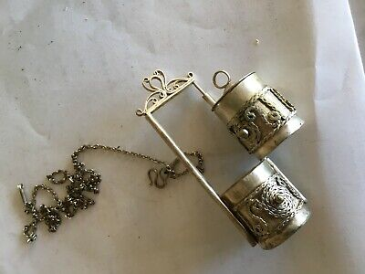 Vietnamese Hmong tribal vintage silver charm, necklace