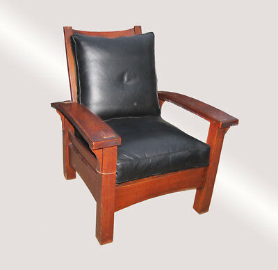 Antique Important & Rare 1901 Gustav Stickley Morris Chair  w5158  FREE SHIPPING