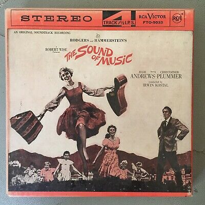 The Sound of Music Original Soundtrack 4 Track Reel to Reel Stereo Tape 7.5 IPS