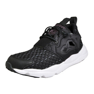 c2f971c2f33 Reebok Classic FuryLite New Woven Womens Ladies Running Shoes Gym Trainers  Black