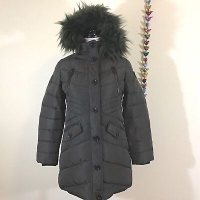 1148f6ed9 NEW* DIESEL KIDS Girl's Parka Insulated Jacket Removable Faux Fur ...