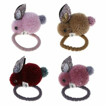 Children Kids Hair Rope Cute Sequin Rabbits Girls Ponytail Elastic Band Gifts