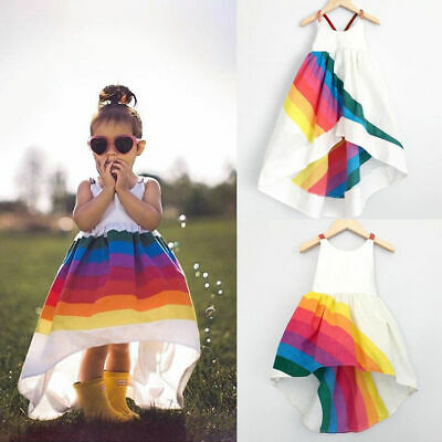 Cute Summer Kids Baby Girls Dress Party Dresses Holiday Sundress Casual Clothes
