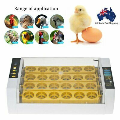 24 Digital Clear Chicken Egg Incubator Automatic Turning Poultry Bird Hatcher AU