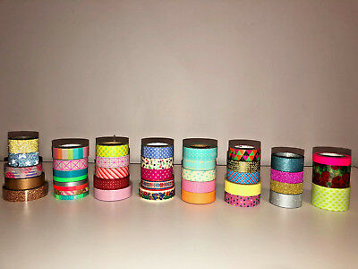 Washi Tape Bundle - 41 Washi Tape (Inc 11 Mt Brand) - Great For Scrapbooking