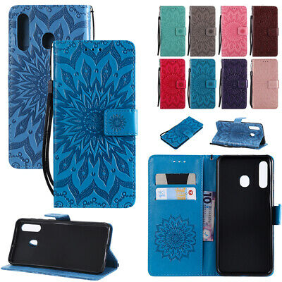 For Samsung Galaxy A30/A50 M20 Magnetic Leather Flip Case Patterned Wallet Cover