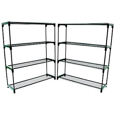 Flower Staging Display Greenhouse Racking Shelving Double Pack