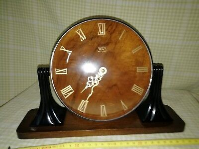 Smiths Bakolite/wood Mantle Clock In E.w.o Smb8D