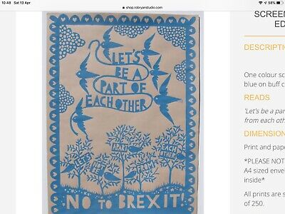 rob ryan brexit poster a1 size. One of a print of 250.
