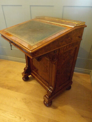 Victorian Burr Walnut Davenport Desk In Fabulous Condition