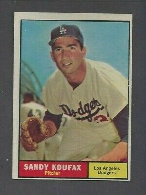 1961 Topps 344 Sandy Koufax Ex Mt Centered Priced To Sell