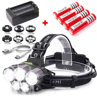 150000LM 5X T6 LED Headlamp Rechargeable Head Light Flashlight Torch Lamp USA ☆