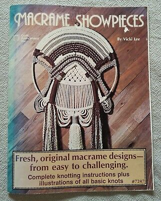 MACRAME SHOWPIECES, 1978, by Vicki Lee,  #7247 - plant hangers, wall hangings