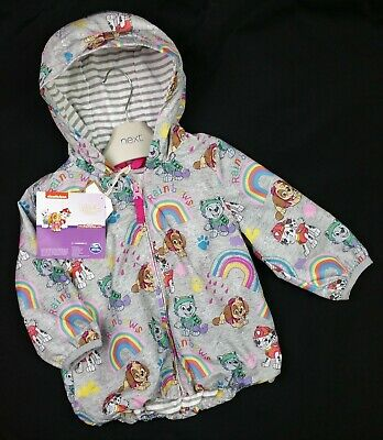 Girls NEXT PAW PATROL Shower Proof Lightweight Coat Jacket 3-6 Months NWT
