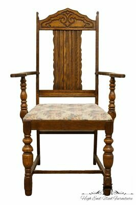 1920's Antique Vintage Gothic Revival Jacobean Dining Arm Chair