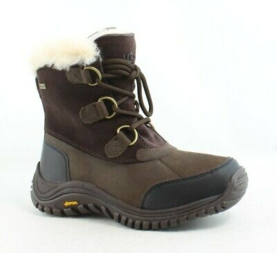 3c08e3c6f8a UGG WOMENS OSTRANDER Stout Leather Snow Boots Size 5.5