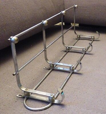 RAR Art Deco 74 cm GARDEROBE CHROM Bauhaus geometric DESIGN STAHLROHR Coat Rack