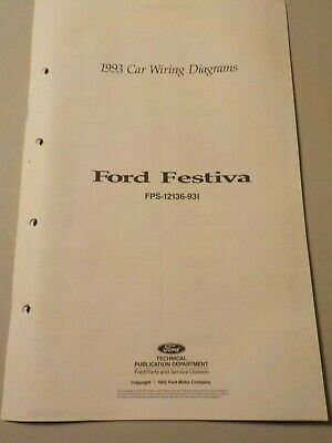 1993 ford festiva electrical schematic wiring diagram manual
