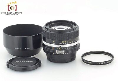 Excellent+++!! Nikon Ai-S NIKKOR 50mm f/1.4 w/ Metal Hood from Japan