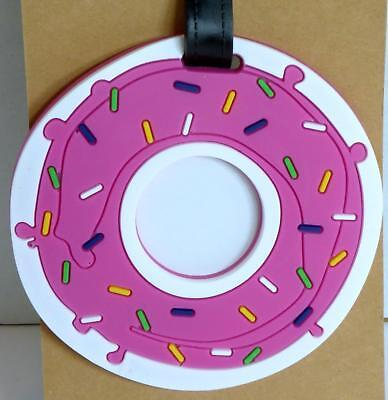 Luggage Tag Silicone Easy to Find Bright Colorful and Fun Travel  Doughnut Donut