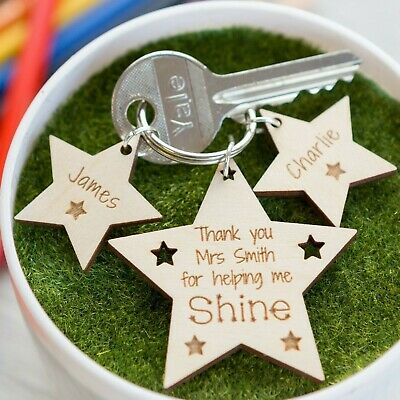 Personalised Teacher Gifts For Best Teacher Teaching Assistant Nursery Keyring