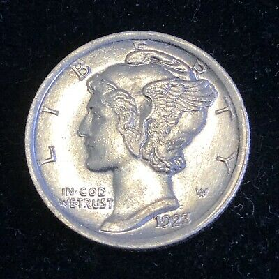 Uncirculated 1923 Philadelphia Mint Silver Mercury Dime