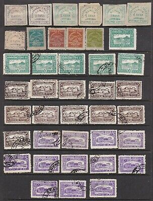 India Feudatory State Charkhari Duplicated Accumulation 54 Stamps