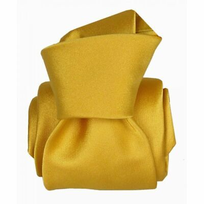 Cravate luxe soie satin faite main - Jaune -