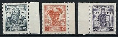 Yugoslavia 668-670 (complete issue) unmounted mint / never hinged 1951 Medieval