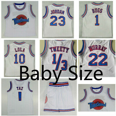 521fefba092 Baby Size Space Jam Jersey Tune Squad Team 1/3 Tweety 22 Murray 23 Jordan